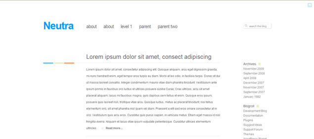 Neutra - Minimal WordPress Themes