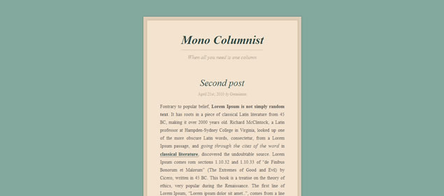 Mono Columnist - Minimal WordPress Themes
