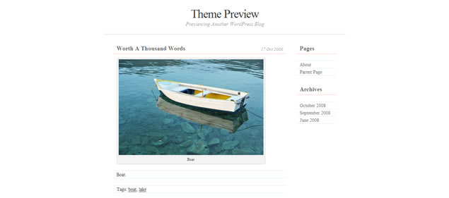 Dear Diary - Minimal WordPress Themes