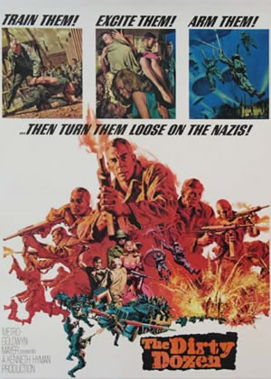 DIRTY DOZEN - Movie Posters from the 1960s