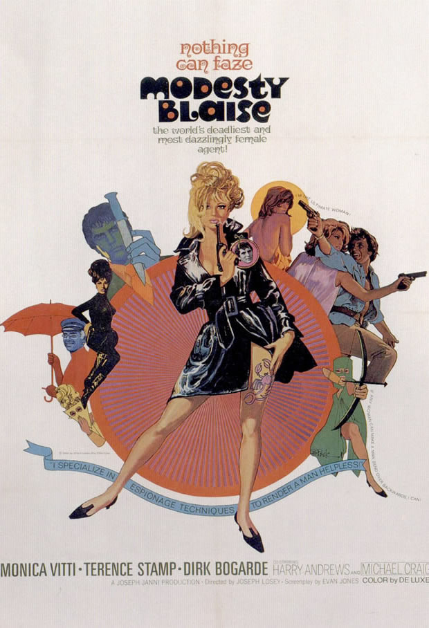 Modesty Blaise - Movie Posters from the 1960s