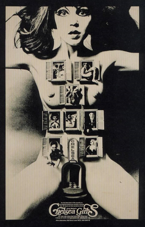 Chelsea girls movie posters from the 1960s