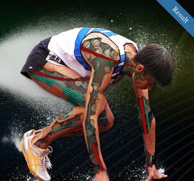Futuristic Athlete Graphic