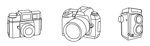 3 Camera Vector Illustrations