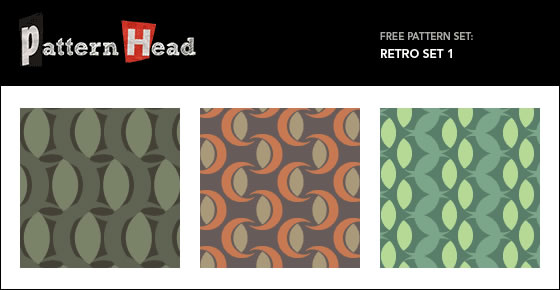 Free Vector Repeat Patterns – Retro Set 1