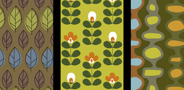 Retro Nature Vector & Photoshop Pattern Pack