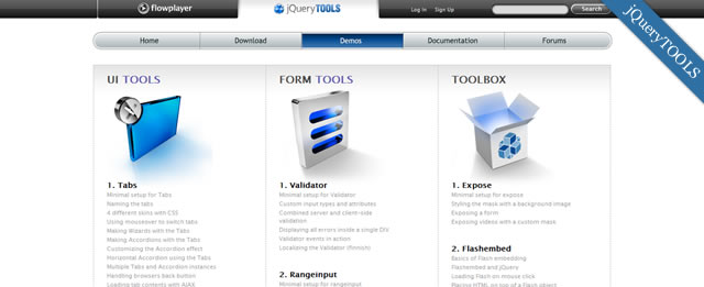 jQuery TOOLS The missing UI library for the Web