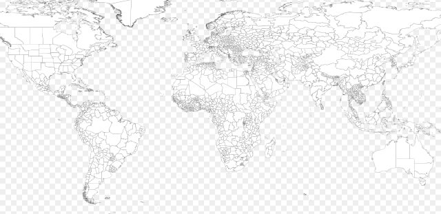 HighQuality Free World Map Templates - Blank world map a4