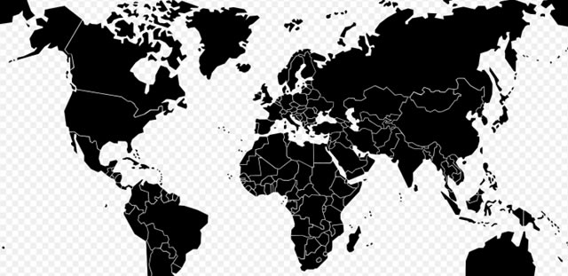 Wikipedia Blank Maps: Low Res World Map SVG