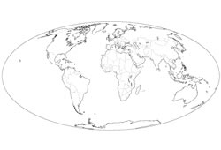 HighQuality Free World Map Templates - World map drawing outline