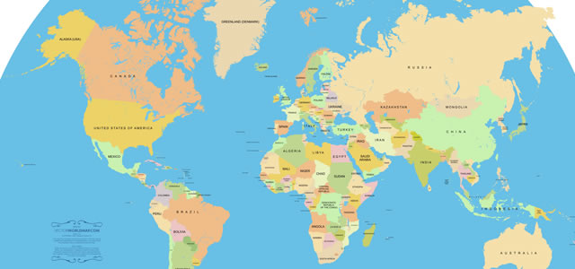 30 high quality free world map templates accurate vector world map gumiabroncs Choice Image