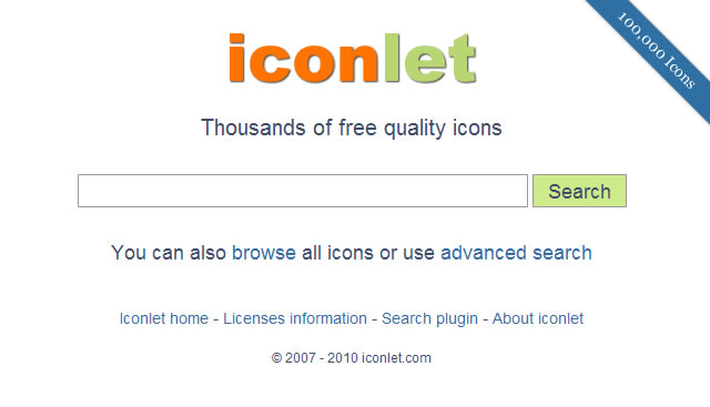 iconlet - Icon Search Engine