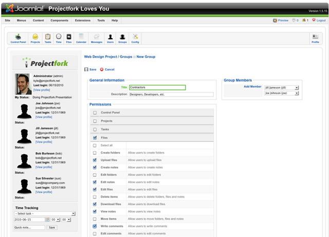 Projectfork Installation Screenshot 2