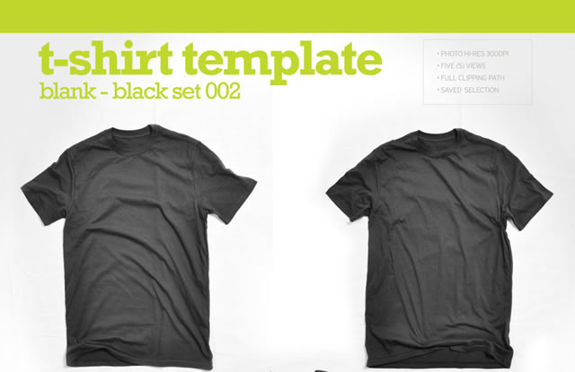 hi res blank black t shirt template
