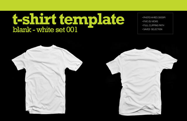Hi Res Blank White T Shirt Template