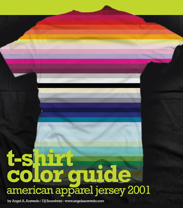 T-Shirt Color Guide Template