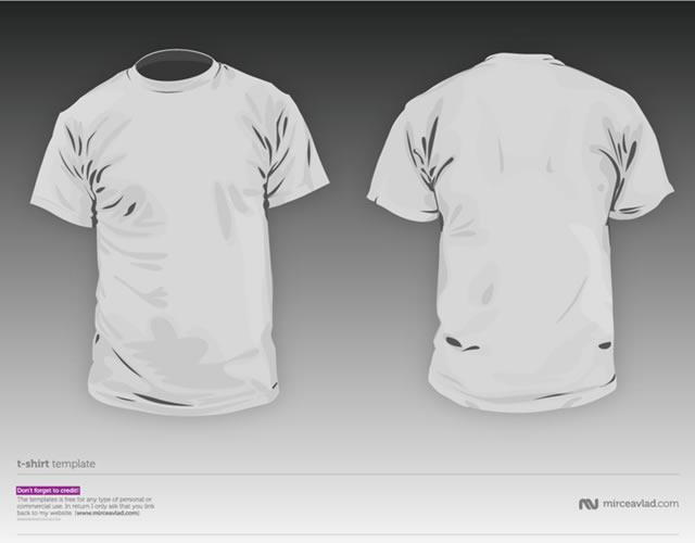 Tshirt Template 04 Mockup Kaos Depan Belakang By