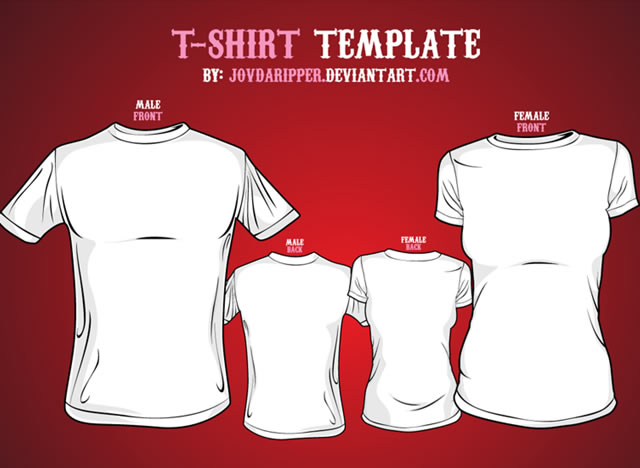 T-Shirt Template Illustrator | Collection Of Blank T Shirt Mockup Templates