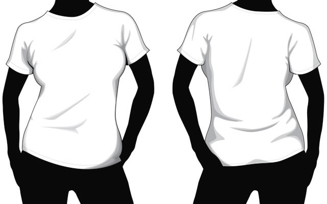 Collection Of Blank TShirt Mockup Templates
