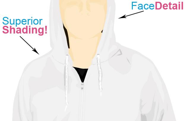 Hoodie Template v3  EPS AI Photoshop PSD PDF