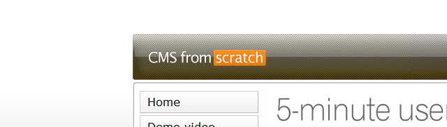 CMS from Scratch