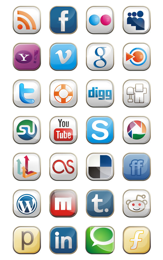 Free Style Social Media Icons