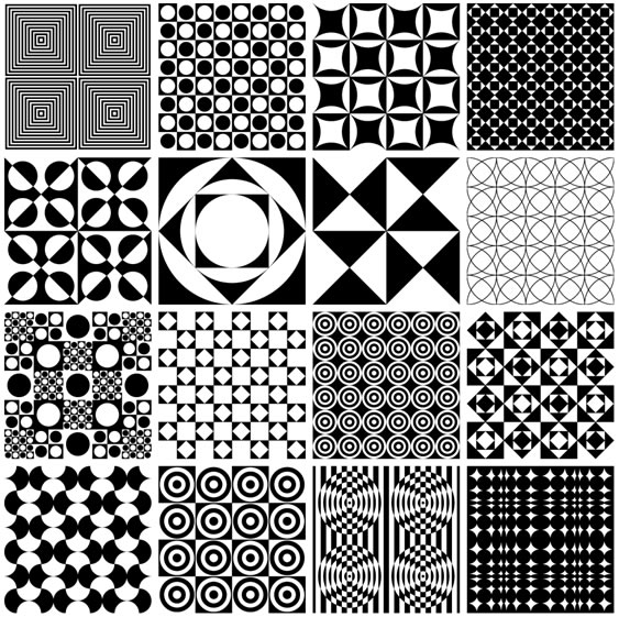 Vector Panton Patterns - 16 Patterns AI