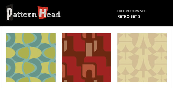 Retro Set - 3 Patterns EPS PNG