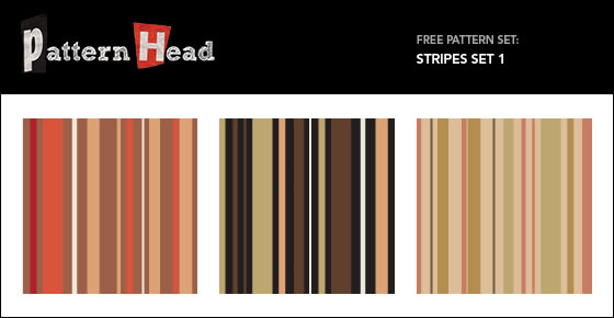 Seamless Stripes - 3 Patterns EPS PNG