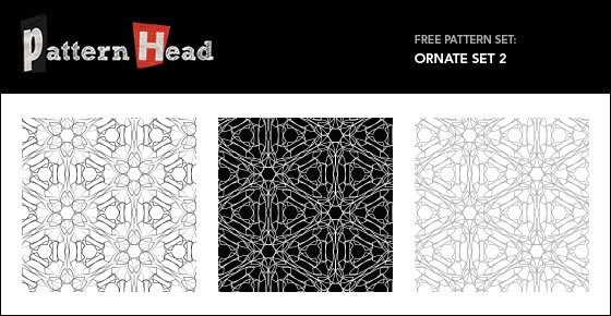 Ornate Set - 3 Patterns EPS PNG