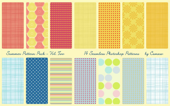 Summer Pattern Pack Vol. 2 - 8 Patterns PAT