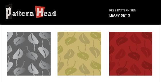 Leafy Set - 3 Patterns EPS PNG