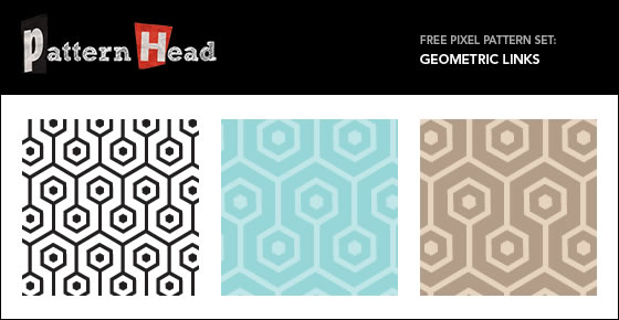 Geometric Links - 3 Patterns EPS PNG