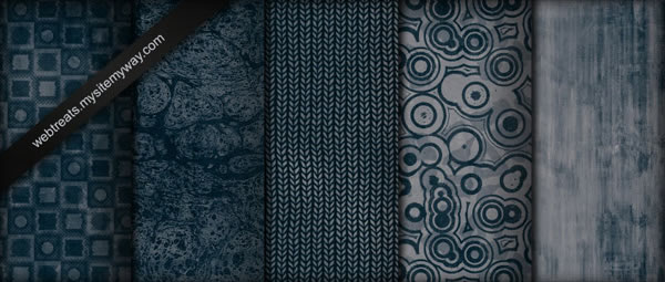 Tileable Midnight Blue Grunge - 5 Patterns JPG PAT