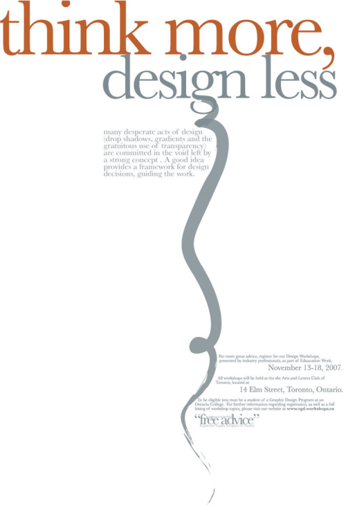 Think More, Design Less Poster
