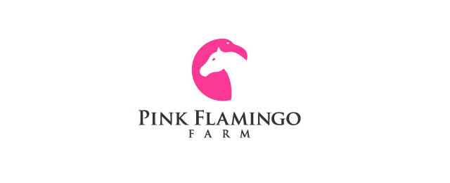 Pink Flamingo Farm Logo animal