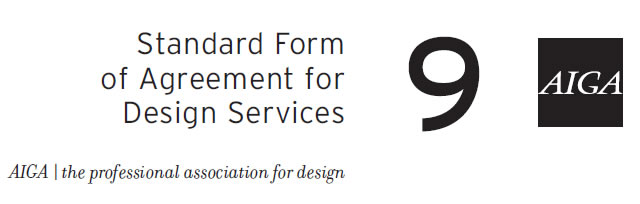 AIGA Standard Form of Agreement for Design Services