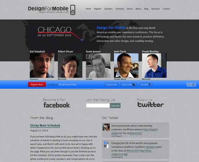D4M 2010 - Design For Mobile