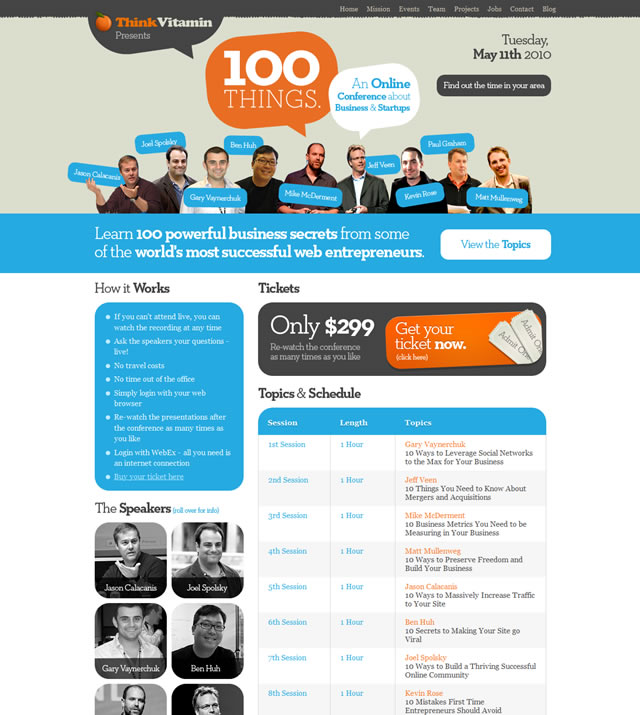 100 Things - An Online Conference about Business and Startups