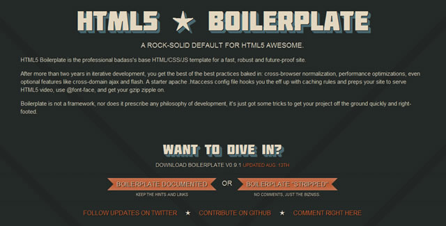 HTML5 Boilerplate - A rock-solid default for HTML5 awesome
