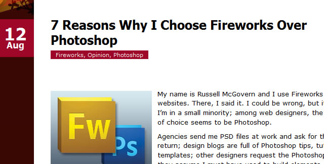 7 Reasons Why I Choose Fireworks Over Photoshop