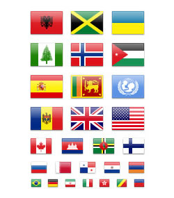 Flags Icons by IconDrawer