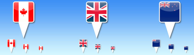 Country Flag Icons for iPhone Maps