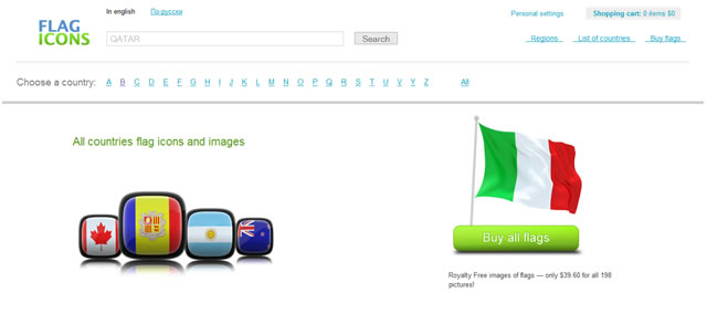 Flag Icons Search Engine
