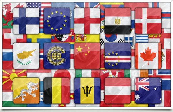 50 iPhone Styled Flag Buttons