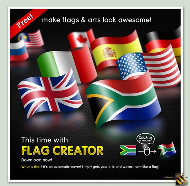 Flag Creator PSD