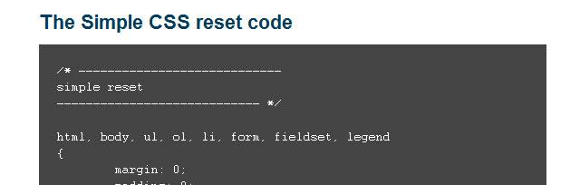 CSS Reset – a simpler option