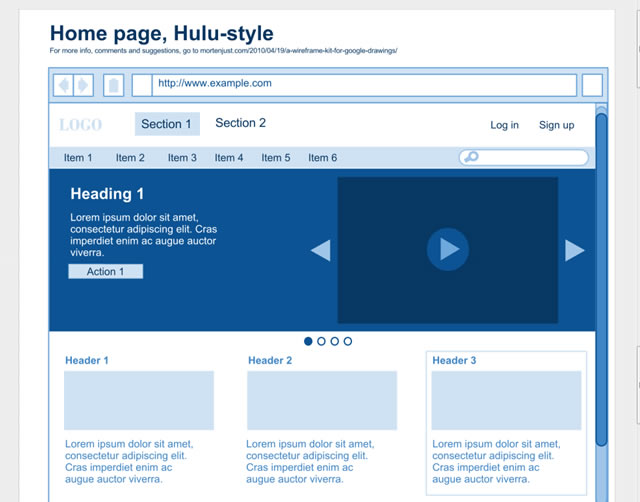 Wireframe - Front Page