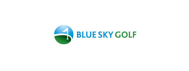 Blue Sky Golf Logo sport brand