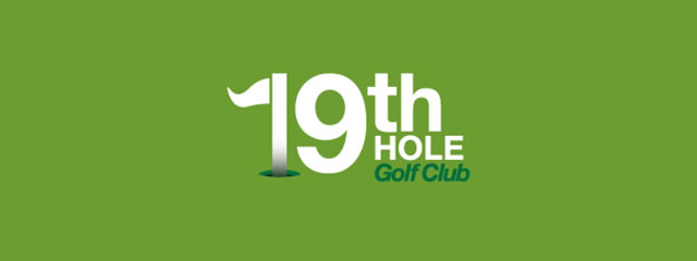 19th Hole Golf Club Logo sport brand